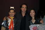 <b>Photo with mentor Robert Derosiers after performance</b>