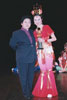 <b>alumni Emily Cheung Won the Advanced Level, the Best Classical, and the Most Authentic Dance Trophies in the North American Chinese Dance Competition in 2000<br/>when she was a student with TCDA,<br/> 					photo with competition adjudicator Ms. Zhang Yu</b>